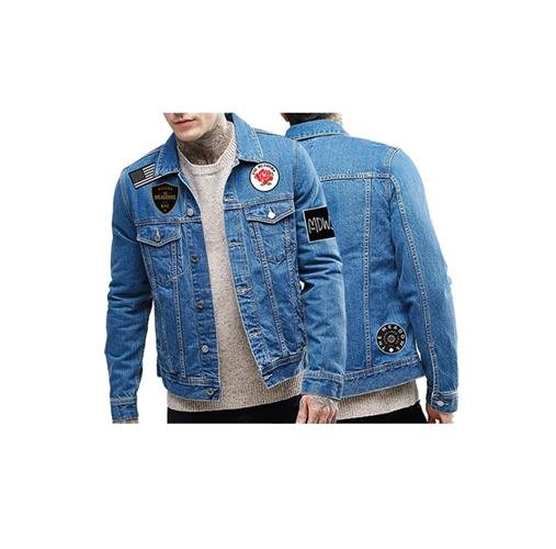 Vintage Denim Jacket W/ Patches