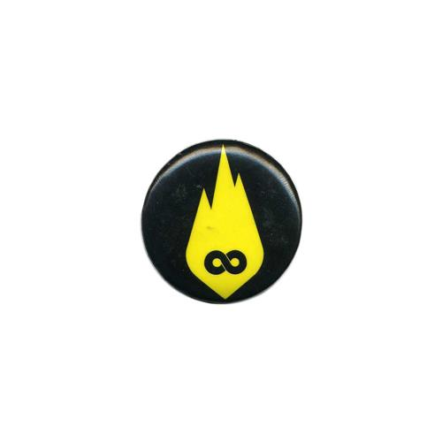 Yellow Infinity Flame Logo Black
