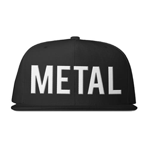 Metal With Horns Black Snapback