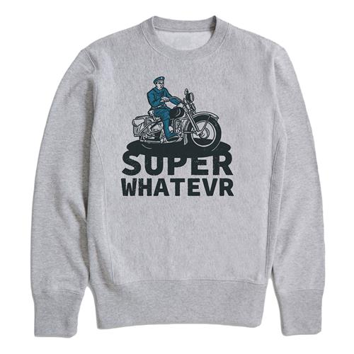 Motorcycle Cop Heather Grey Crewneck