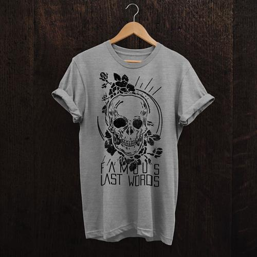 Skull Rose Heather Grey