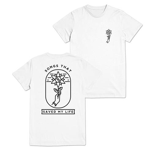 Flower Logo White