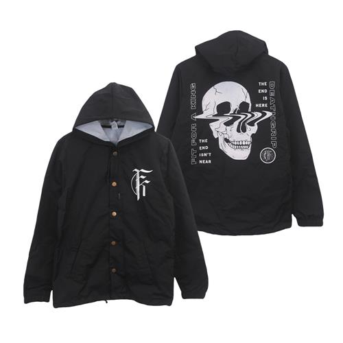 Skull Black Windbreaker