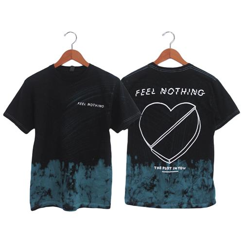 Broken Heart Black With Teal Dye