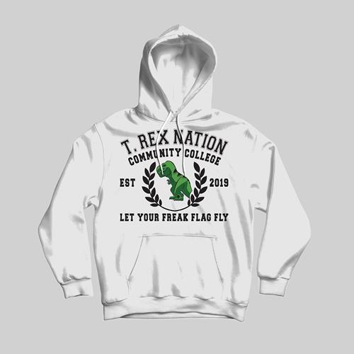 T-Rex Nation White