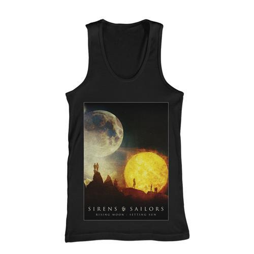 Rising Moon: Setting Sun Black Tank Top