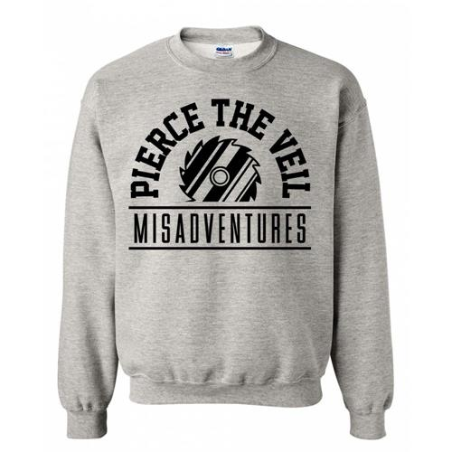 Misadventures Heather Grey Crewneck Small