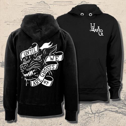 Wolf Black Hooded Sweatshirt