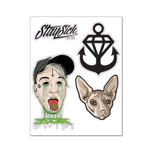 5 X 7 Die Cut Sticker Sheet