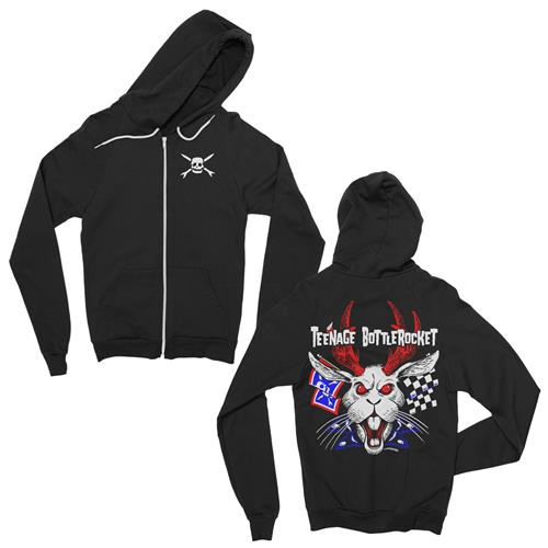 Jackalope Black Zip Up