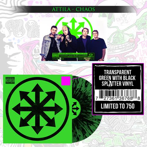 Chaos Transparent Green w/ Black Splatter Vinyl