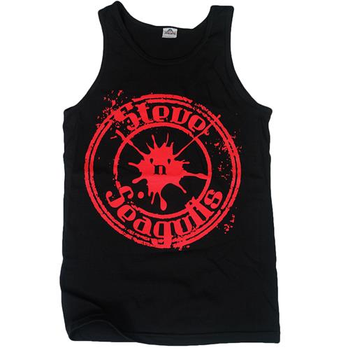 Steve 'N' Seagulls Red Logo Black Tank Top