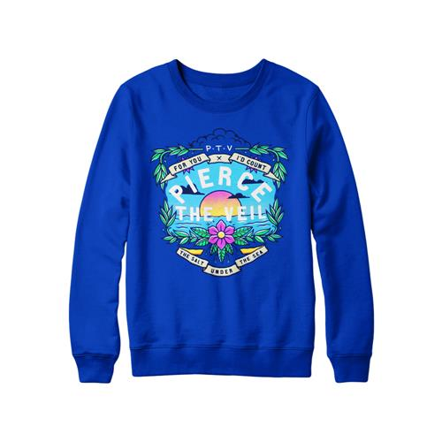 Sea Salt Royal Blue Girl's Crewneck