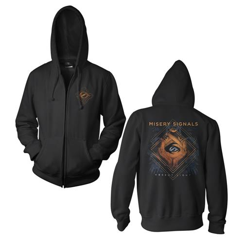 Absent Light Cover Art Black Zip-Up