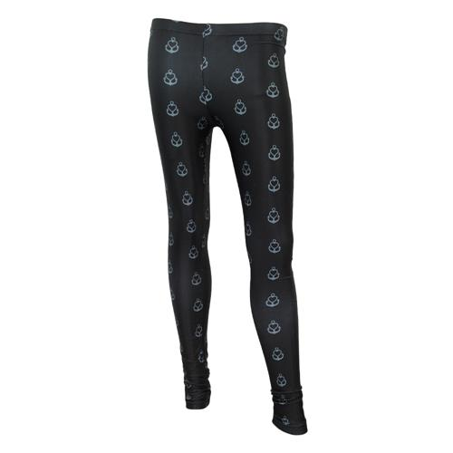 All Over Pattern Black Leggings