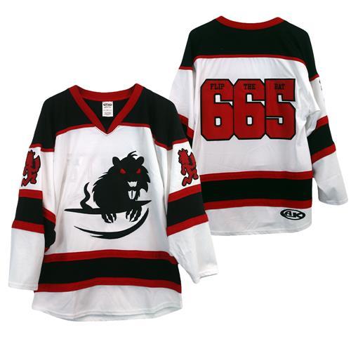 Flip The Rat 665 White/Black/Red Hockey