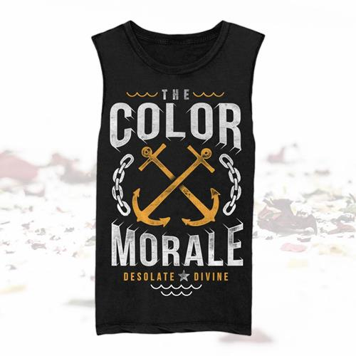 Crossed Anchors Black Muscle Tank