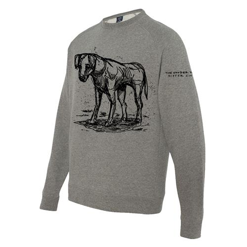 Dog Pullover Crewneck With Embroidered Sleeve