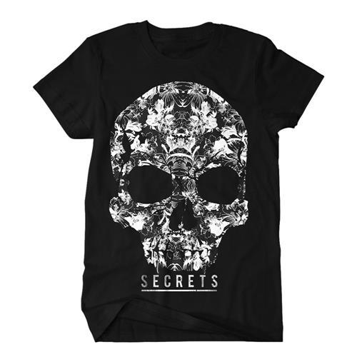 Floral Skull Black