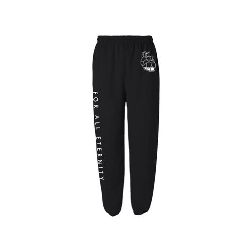 Heart Logo Black Sweatpants