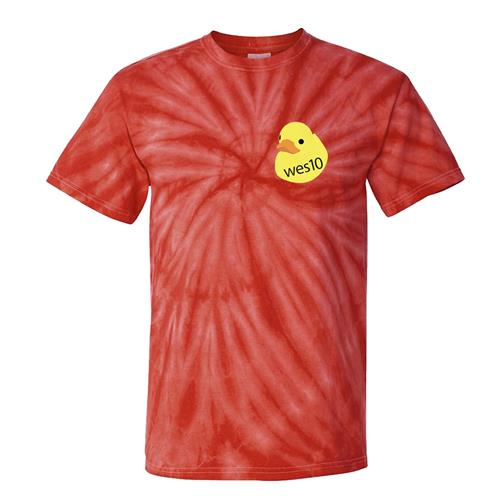 Duckies Red Tie Dye