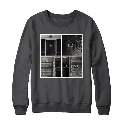 Squares Charcoal Crewneck Sweatshirt