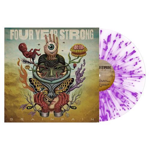 Brain Pain Clear W/ Neon Purple Splatter