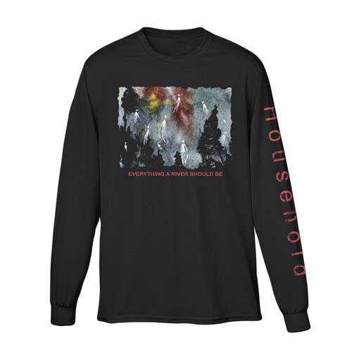 Everything A River Should Be Black Long Sleeve