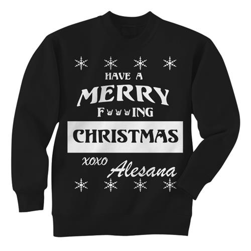 Merry Fucking Christmas Black Crewneck