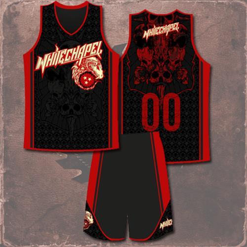 747ba4778eb Ram Red Black Basketball Jersey   Short Set
