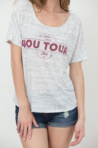 2016 4OU Tour White Marble Slouchy