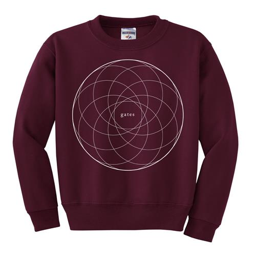 Circles Red Crewneck Sweatshirt