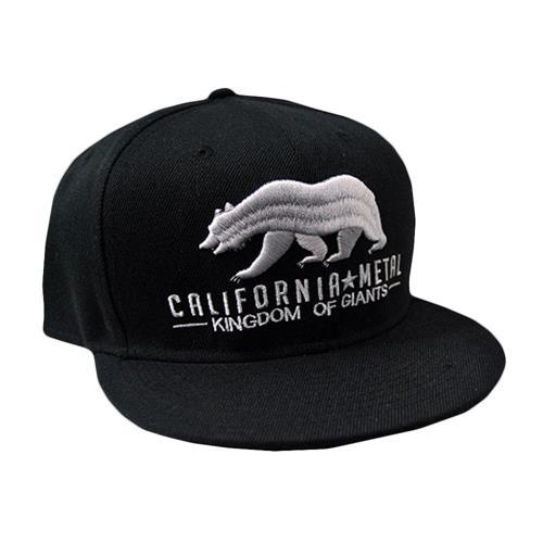 California Metal Black Snapback Hat