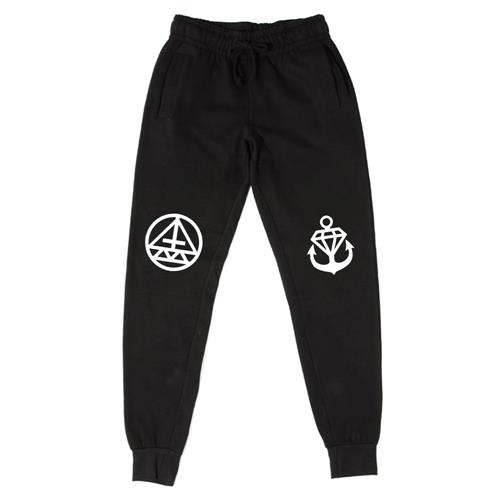 Symbols Black Skinny Jogger Pants
