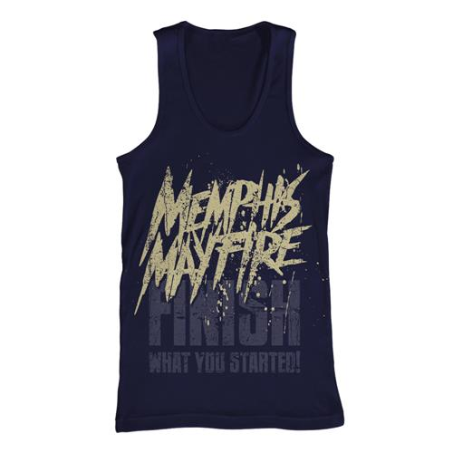 Finish What You Started Navy Tank Top