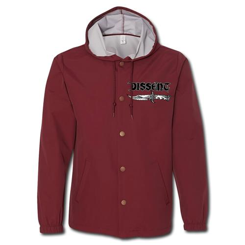 Knife Burgundy Windbreaker