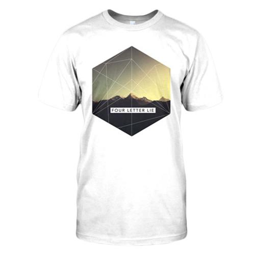 Mountains White T-Shirt