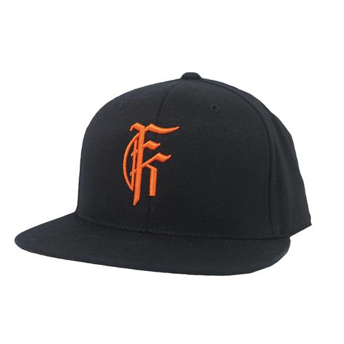 Orange Icon Black Snap Back