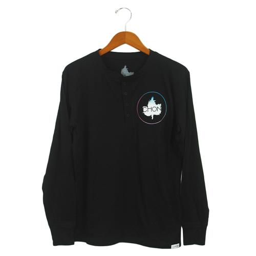 Woohoo Black Long Sleeve Henley