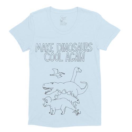 Make Dinosaurs Cool Again Light Blue