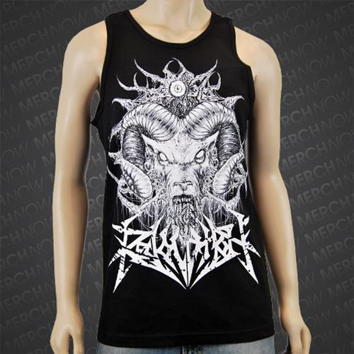 Ram Worm Black Tank Top