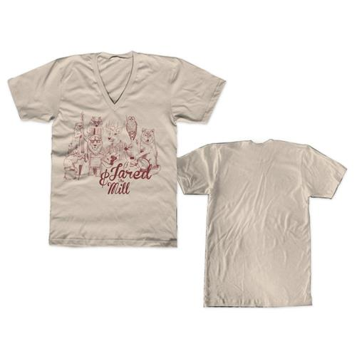 Jared & The Zoo Cream V-Neck
