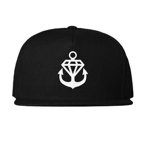Anchor Embroidered Black