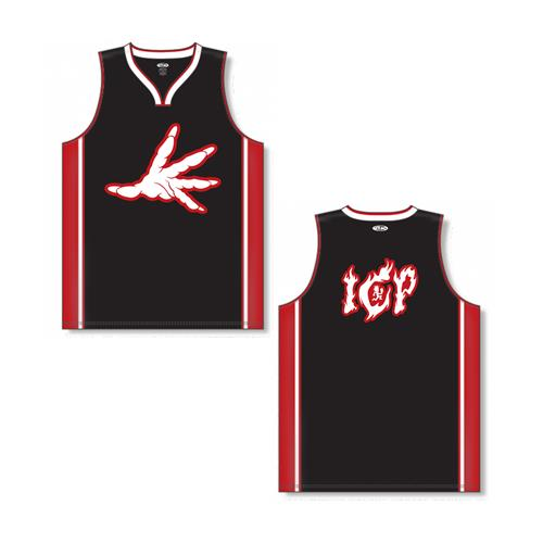 Hell's Pit Hands Black/Red Basketball