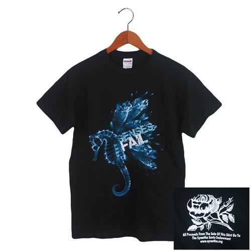 Seahorse Blue On Black