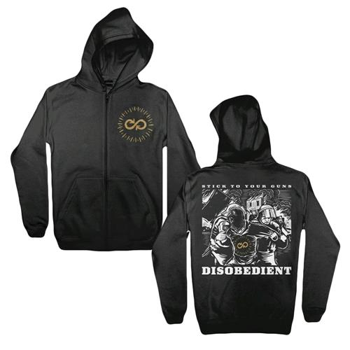 Disobedient Black Zip-Up