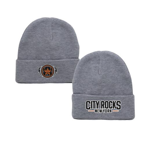 New York Logo (Cuffed) Heather Grey
