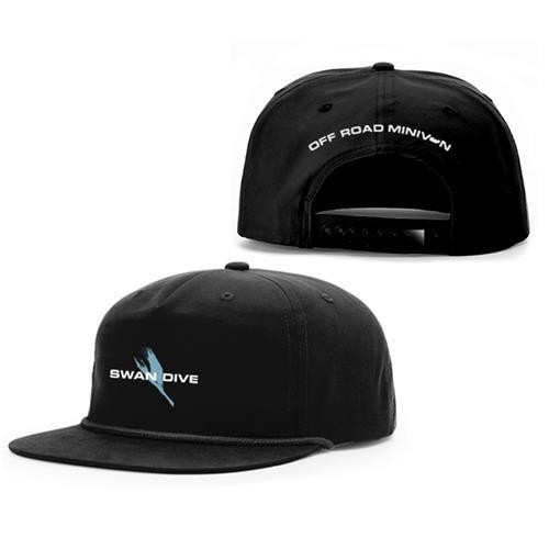 Swan Dive Black 5 Panel Hat