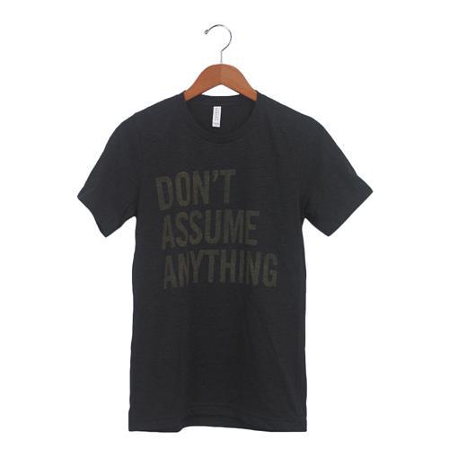 Don't Assume Charcoal-Black