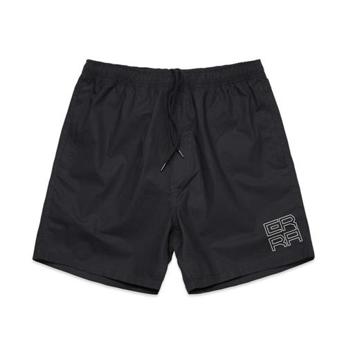Square Logo Black Shorts